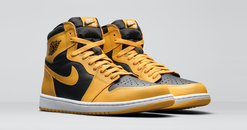 Release Details for Air Jordan 1 High Pollen Black front corner