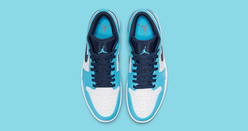 Release Details for Air Jordan 1 Low UNC White University Blue 03