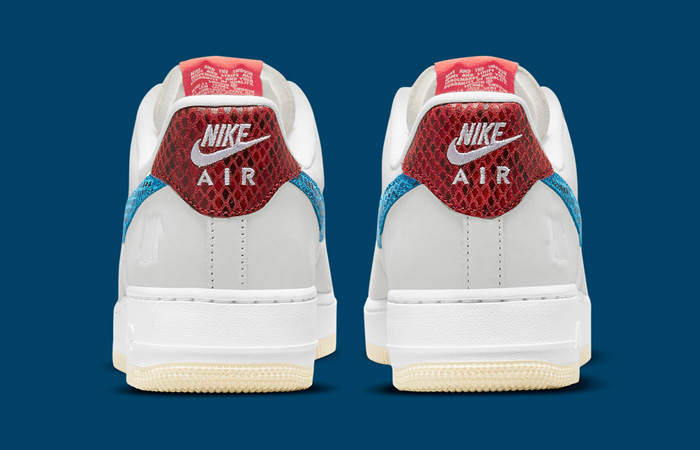 Undefeated Nike Air Force 1 Off White DM8461-001 back
