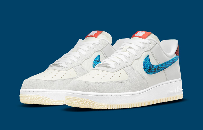 Undefeated Nike Air Force 1 Off White DM8461-001 front corner