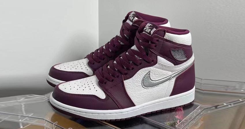 Air Jordan 1 High Bordeaux Official Look 01
