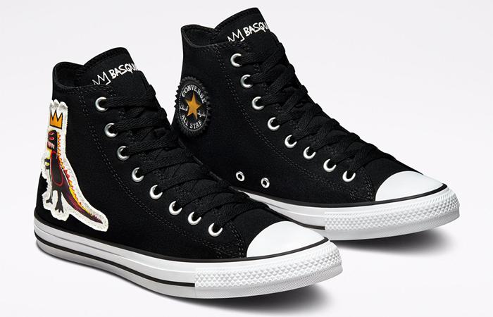 Basquiat Converse Chuck Taylor All Star Black 172586F front corner