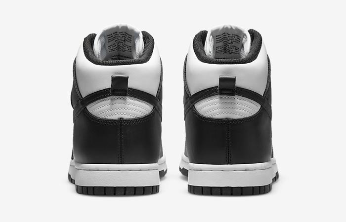 Nike Dunk High White Black DD1399-105 back