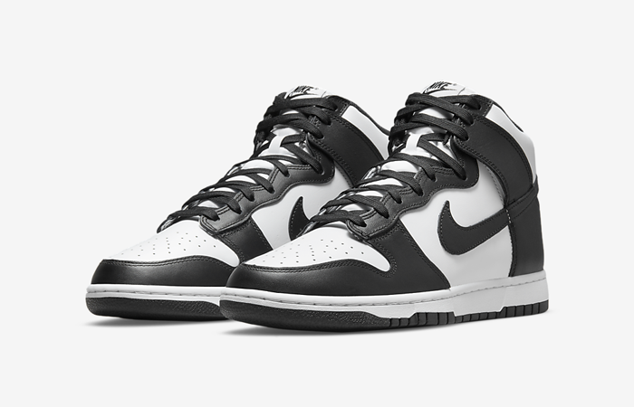 Nike Dunk High White Black DD1399-105 front corner