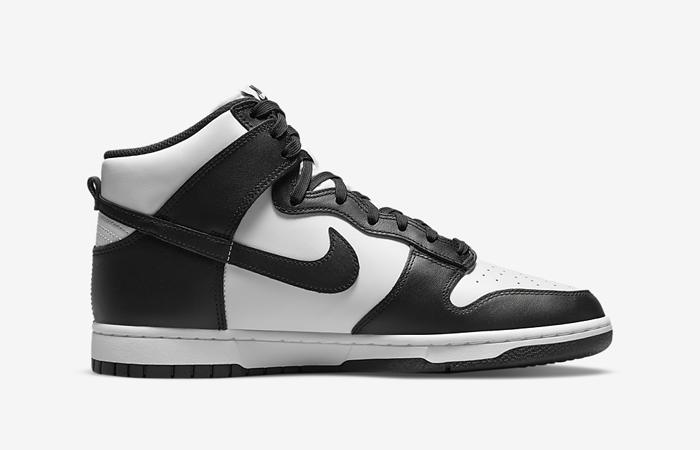Nike Dunk High White Black DD1399-105 right