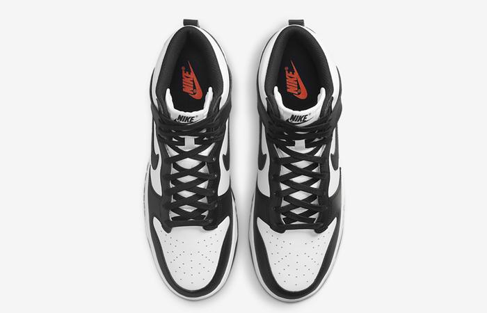 Nike Dunk High White Black DD1399-105 up