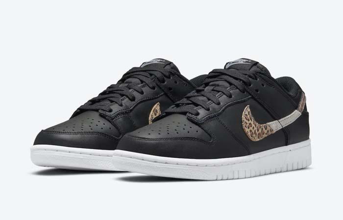 Nike Dunk Low Black Leopard Womens DD7099-001 front corner