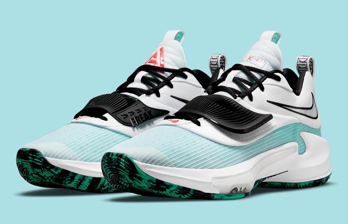 Nike Zoom Freak 3 White Blue DA0694-101 front corner