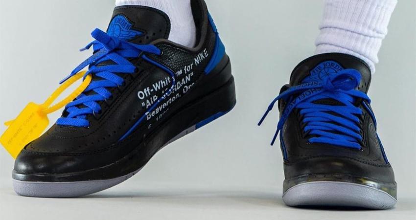 Off-White Air Jordan 2 Low Black Royal Blue Release Info 05