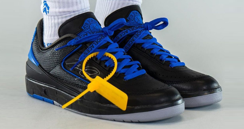 Off-White Air Jordan 2 Low Black Royal Blue Release Info featured image