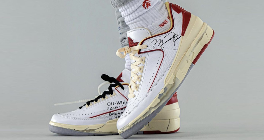 On Foot Take on the Off-White Air Jordan 2 Low White Red 01