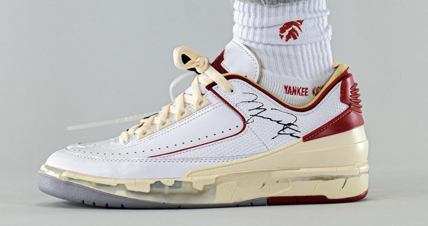 On Foot Take on the Off-White Air Jordan 2 Low White Red 04