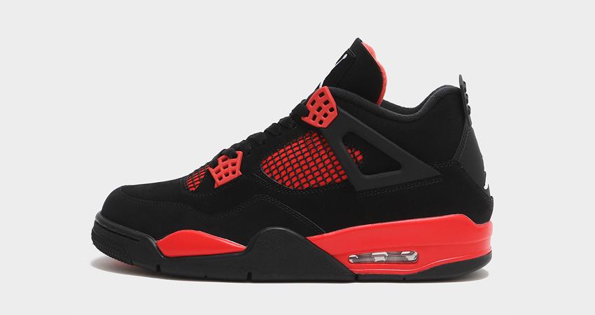 Red Thunder Air Jordan 4 On Foot Look 01