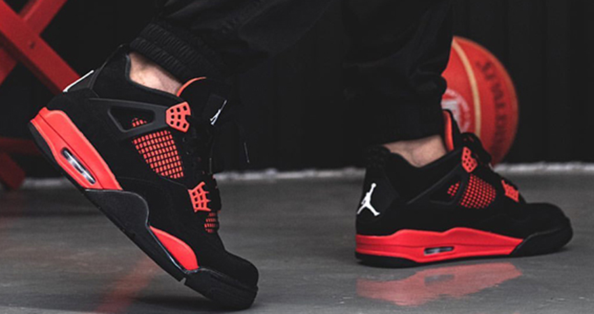 Red Thunder Air Jordan 4 On Foot Look 04