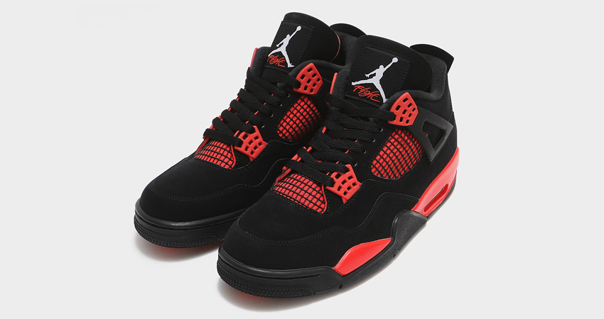 Red Thunder Air Jordan 4 On Foot Look featured image