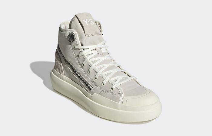 adidas Y3 Ajatu Court High Bliss Off White H05622 front corner