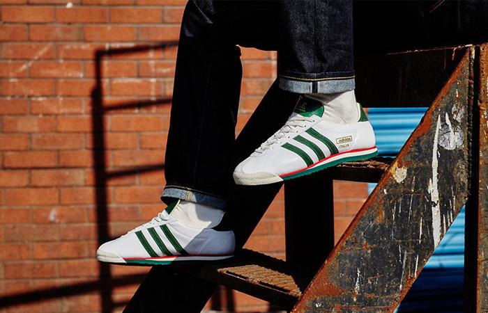 C.P. Company adidas Spezial Italia GV7659 on foot 01