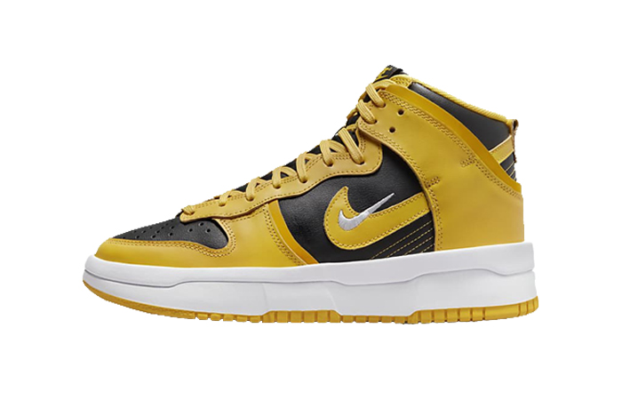 Nike Dunk High Up Black Gold Womens DH3718-001 featured image