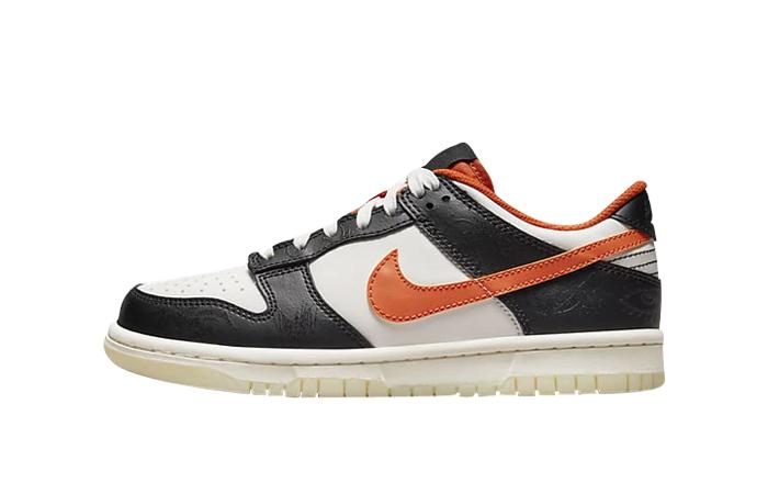Nike Dunk Low PRM Sail Black Older Kids DO3806-100 featured image