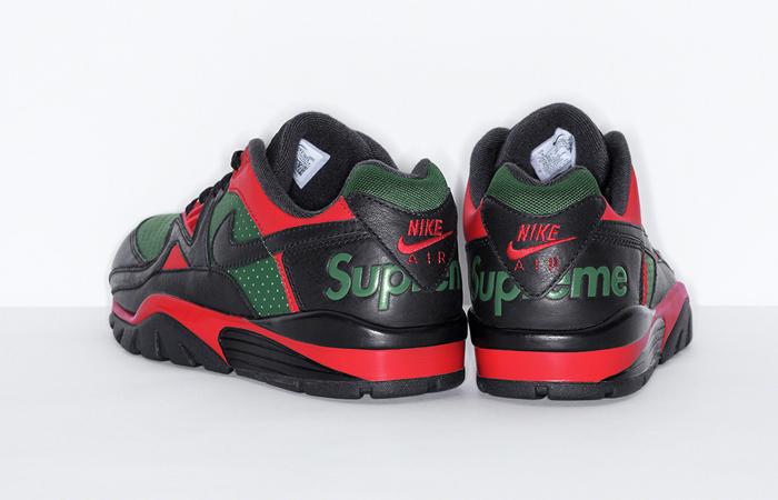 Supreme Nike Air Cross Low Black Green CJ5291-001 back