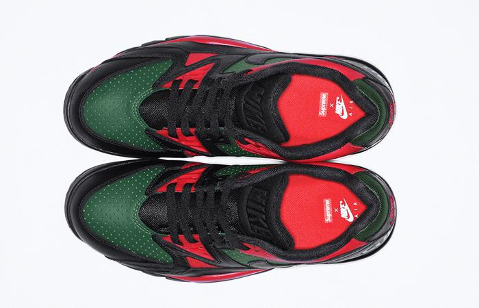 Supreme Nike Air Cross Low Black Green CJ5291-001 up