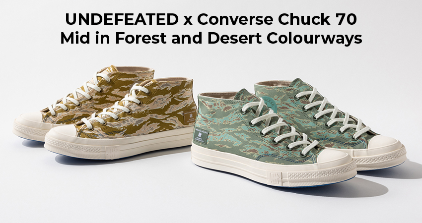 UNDEFEATED x Converse Chuck 70 Mid in Forest and Desert Colourways featured image