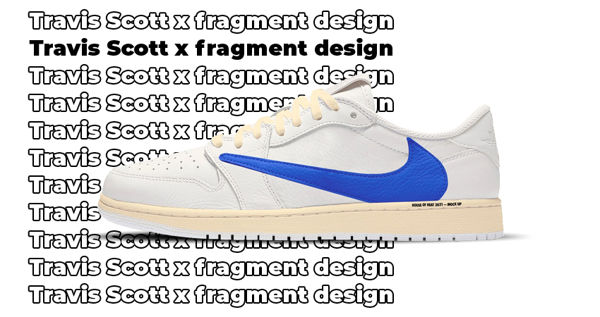 White Blue Sail Coloured Travis Scott x fragment design Air Jordan 1 Low featured image