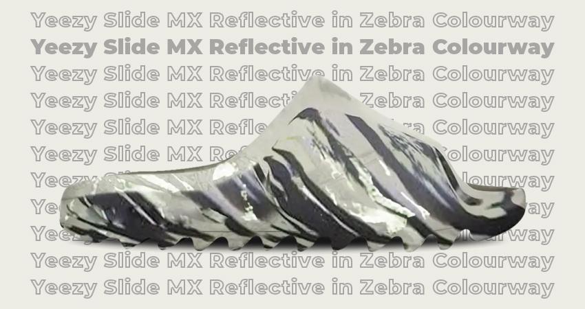 Yeezy Slide MX Reflective in Zebra Colourway featured image