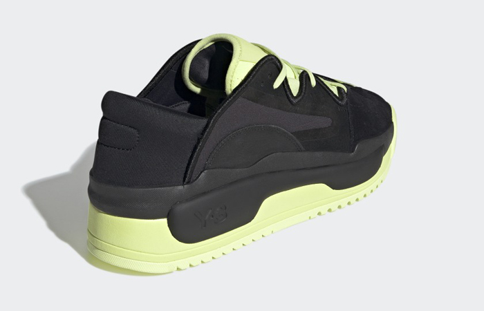 adidas Y 3 Hokori II Black Yellow GZ9145 back corner