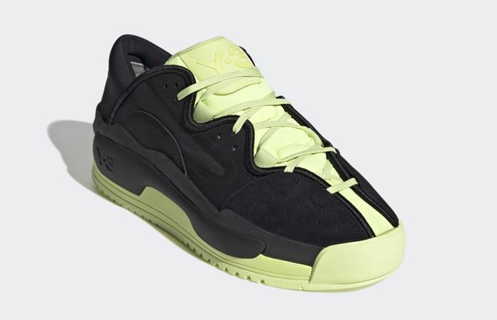 adidas Y 3 Hokori II Black Yellow GZ9145 front corner